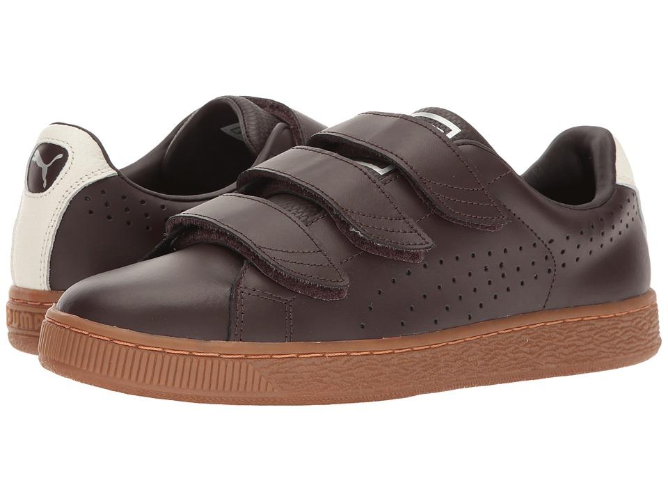 PUMA - Basket Classic Strap Citi (Black Coffee/Whisper White) Men's Shoes