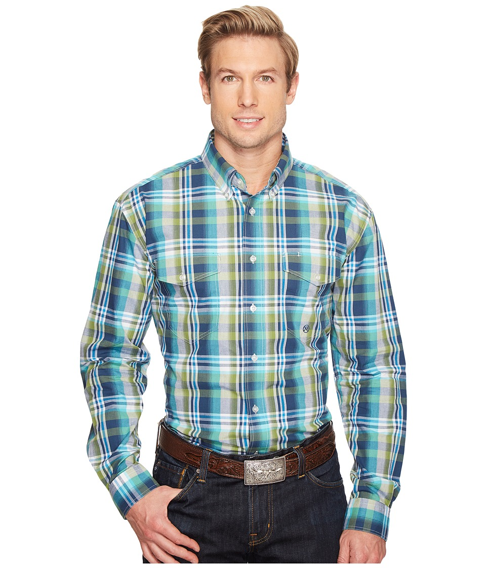 Roper - 0830 Water Check Plaid (Blue) Men's Clothing