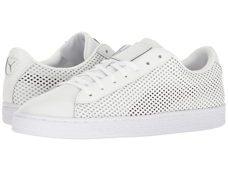 PUMA - Basket Classic Summer Shade (PUMA White) Men's Shoes