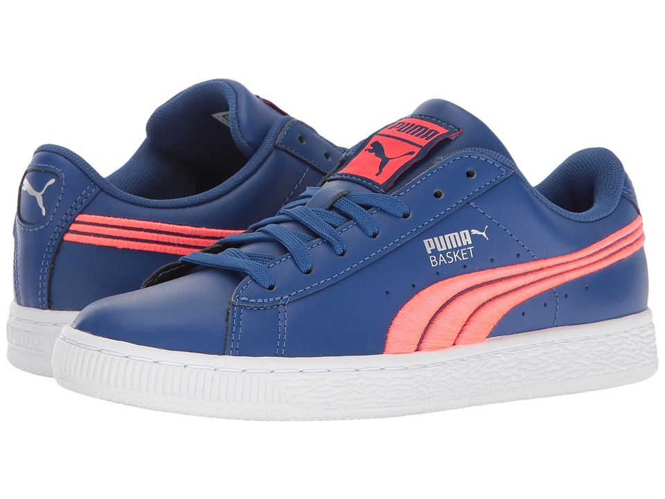 PUMA - Basket Classic Badge (True Blue/Bright Plasma) Men's Shoes