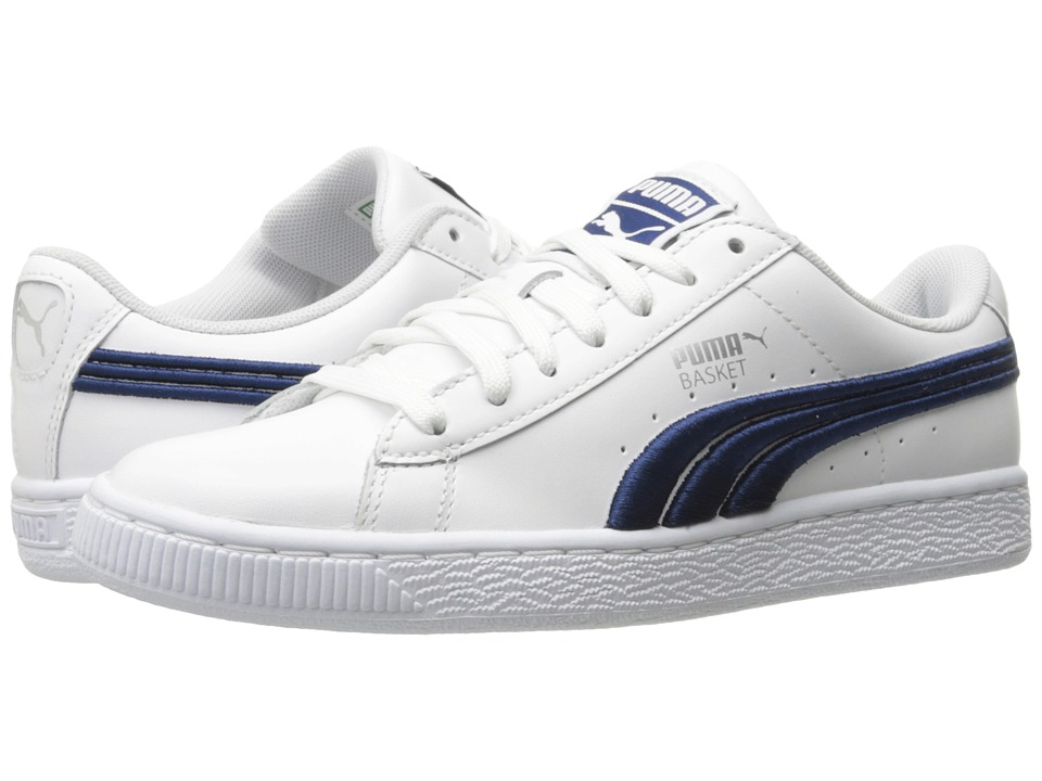 PUMA - Basket Classic Badge (PUMA White/True Blue) Men's Shoes