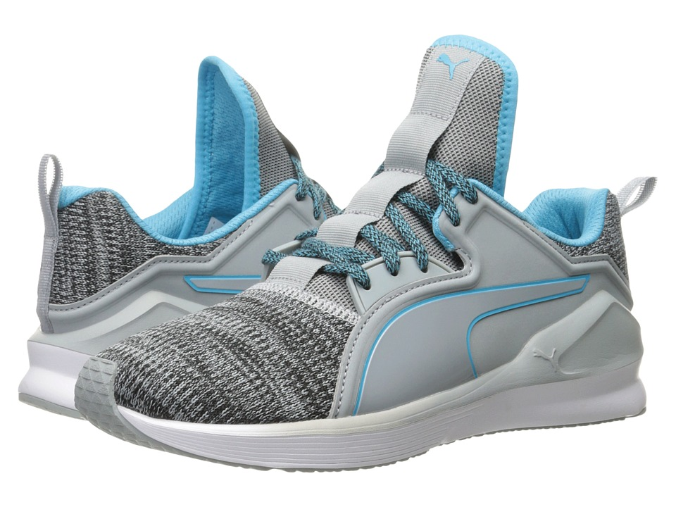 PUMA Fierce Lace Knit (Quarry/Puma White/Blue Atoll) Women