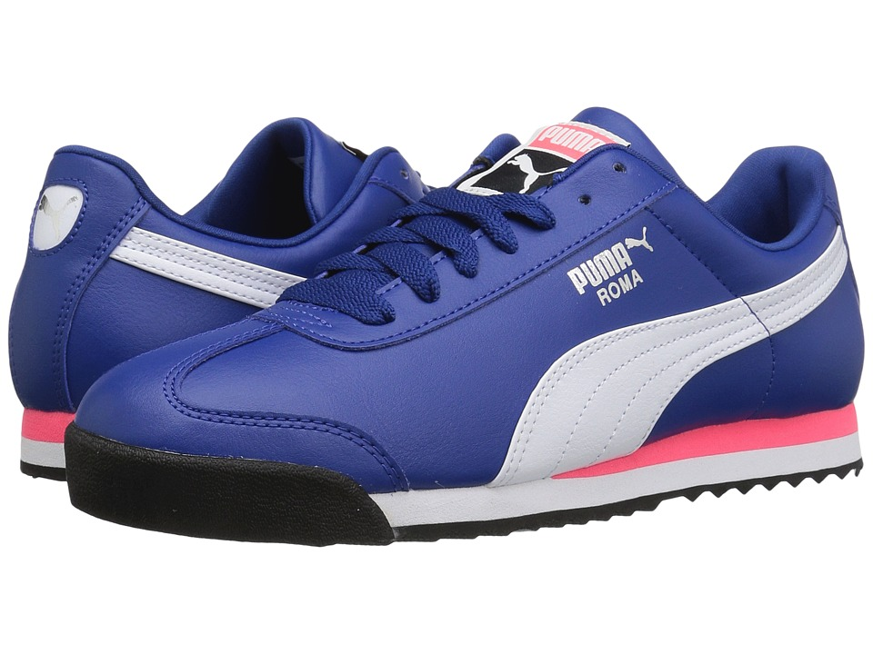 PUMA - Roma Basic (True Blue/Puma White) Men's Shoes