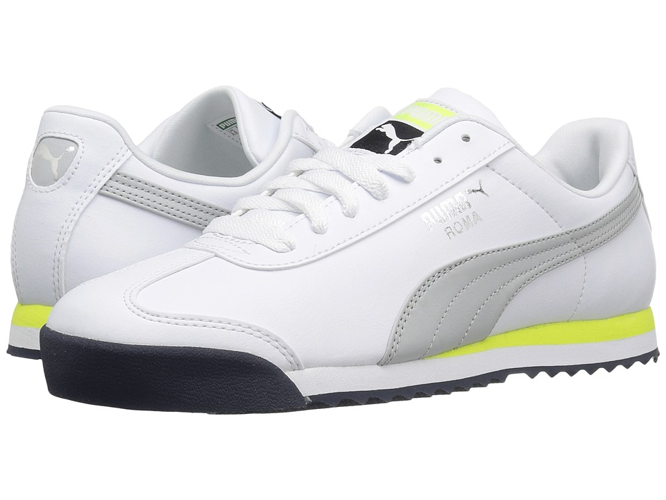 PUMA - Roma Basic (Puma White/Gray Violet) Men's Shoes
