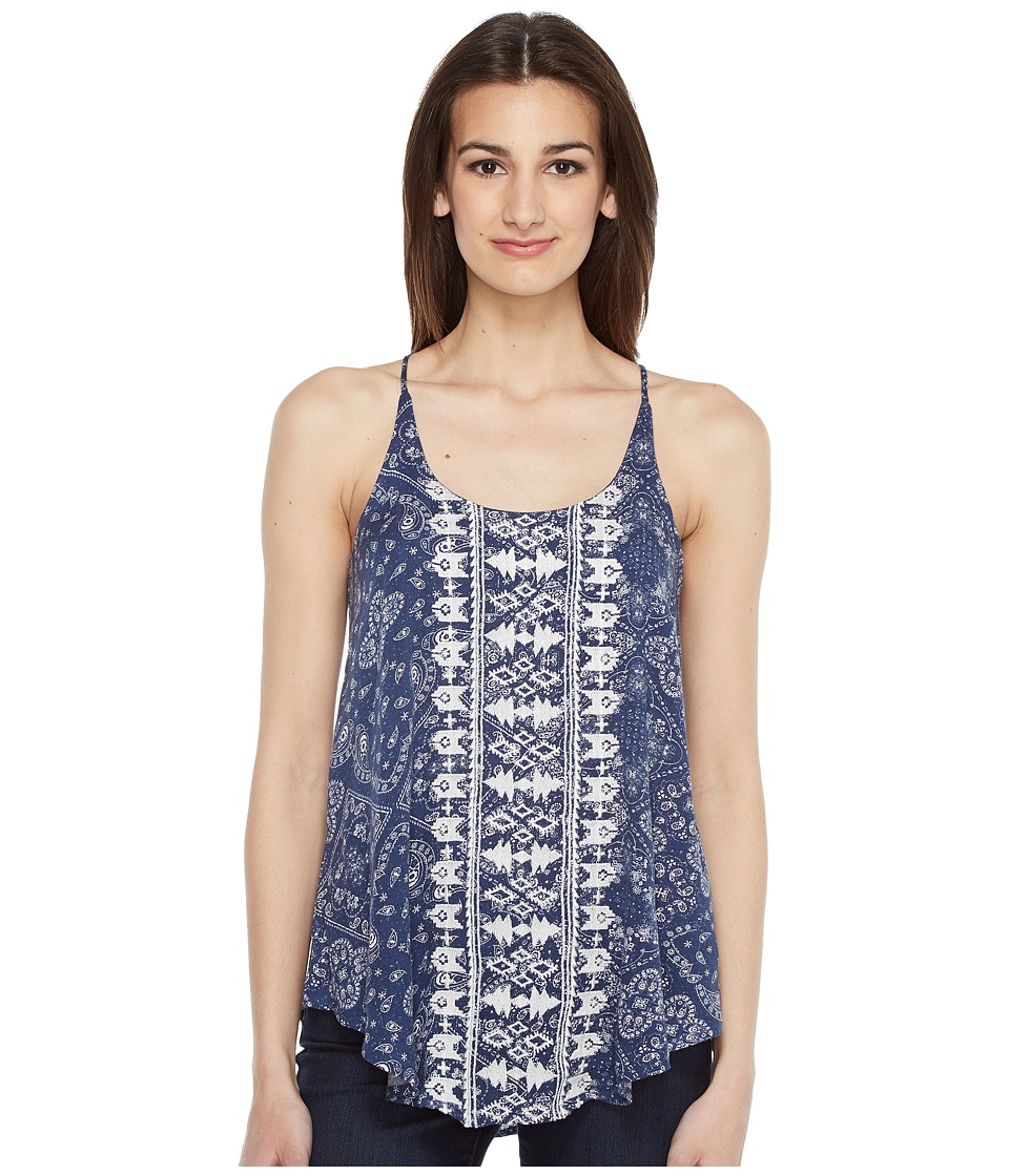 Roper - 0879 Navy Bandana Print Tank Top (Blue) Women's Sleeveless