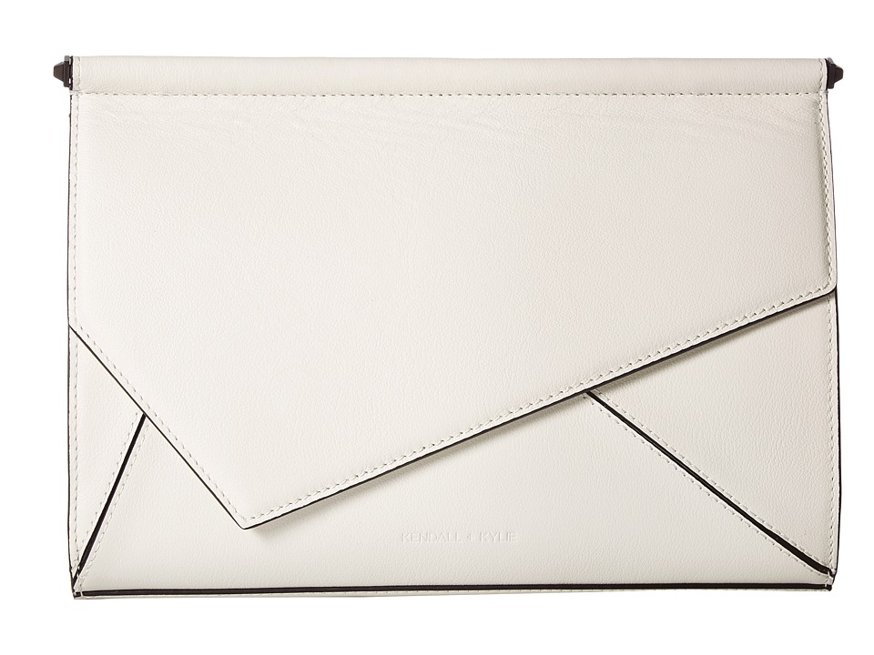 KENDALL + KYLIE - Ginza Clutch (White) Clutch Handbags