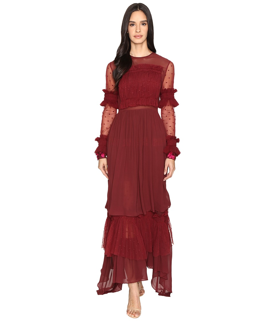 Preen Line - Cecily Dress (Burgundy) Women's Dress