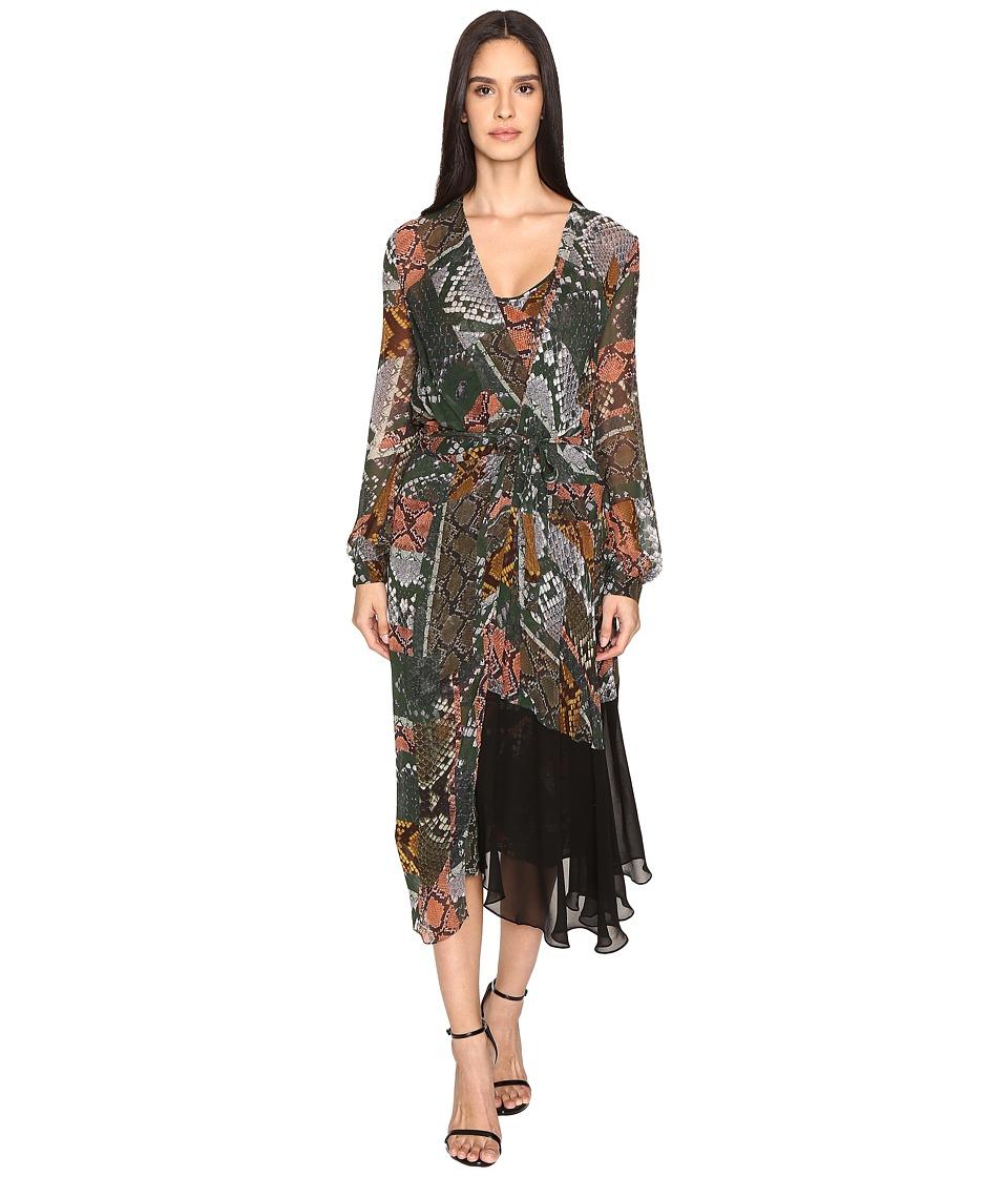 Preen Line - Dolcie Dress w/ Printed Slip (Snake) Women's Dress