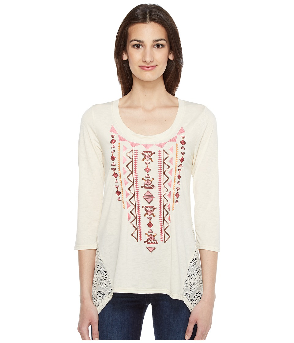 Roper - 0946 Cream Ity Jersey Tunic (White) Women's Blouse