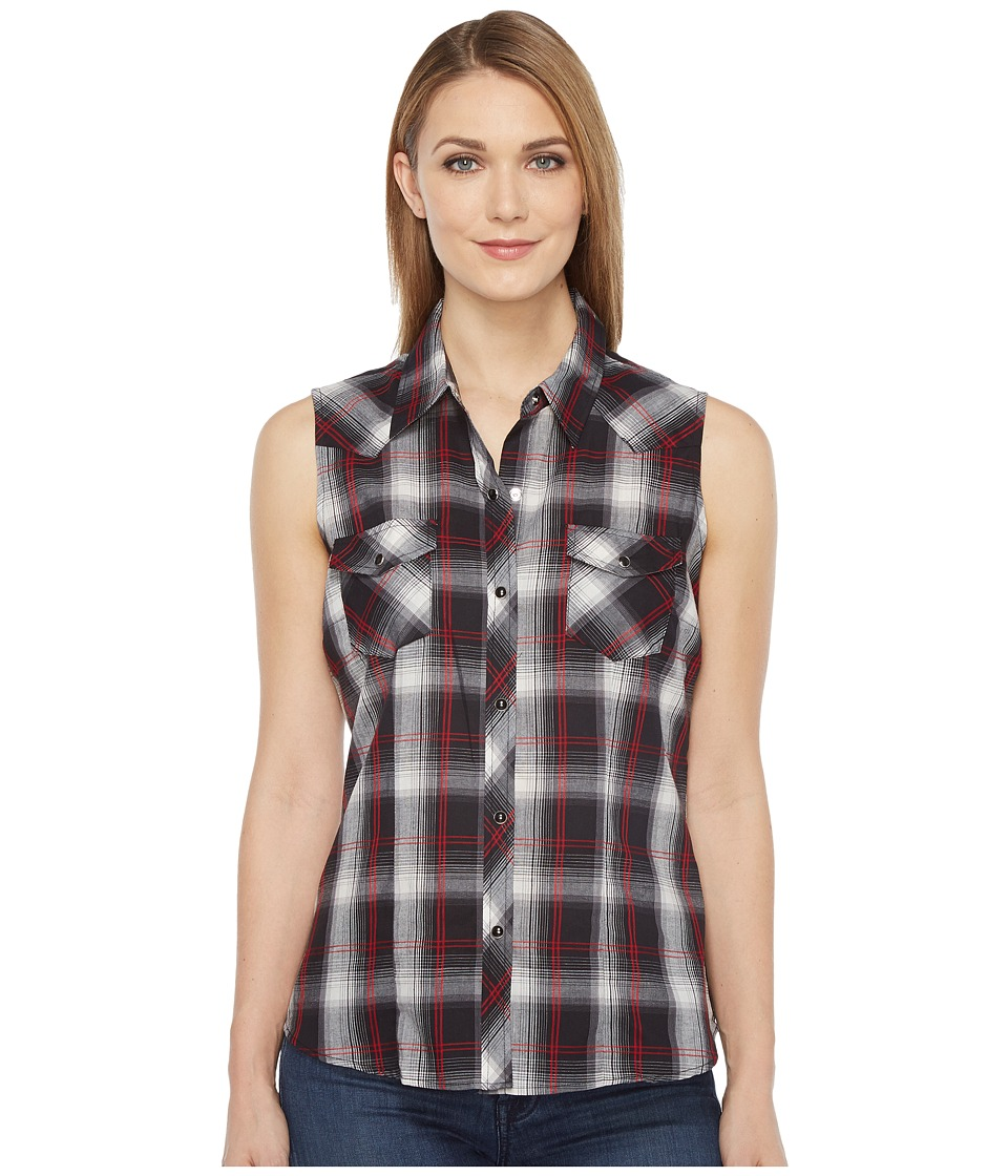 Roper - 0927 Black Plaid (Black) Women's Sleeveless