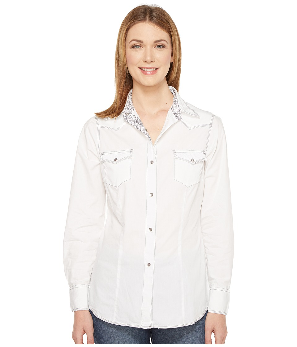 Roper - 0855 Solid White Poplin (White) Women's Clothing