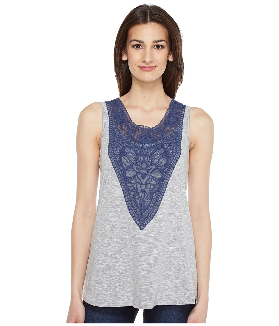 Roper - 0890 Heather Jersey Tank Top (Blue) Women's Sleeveless