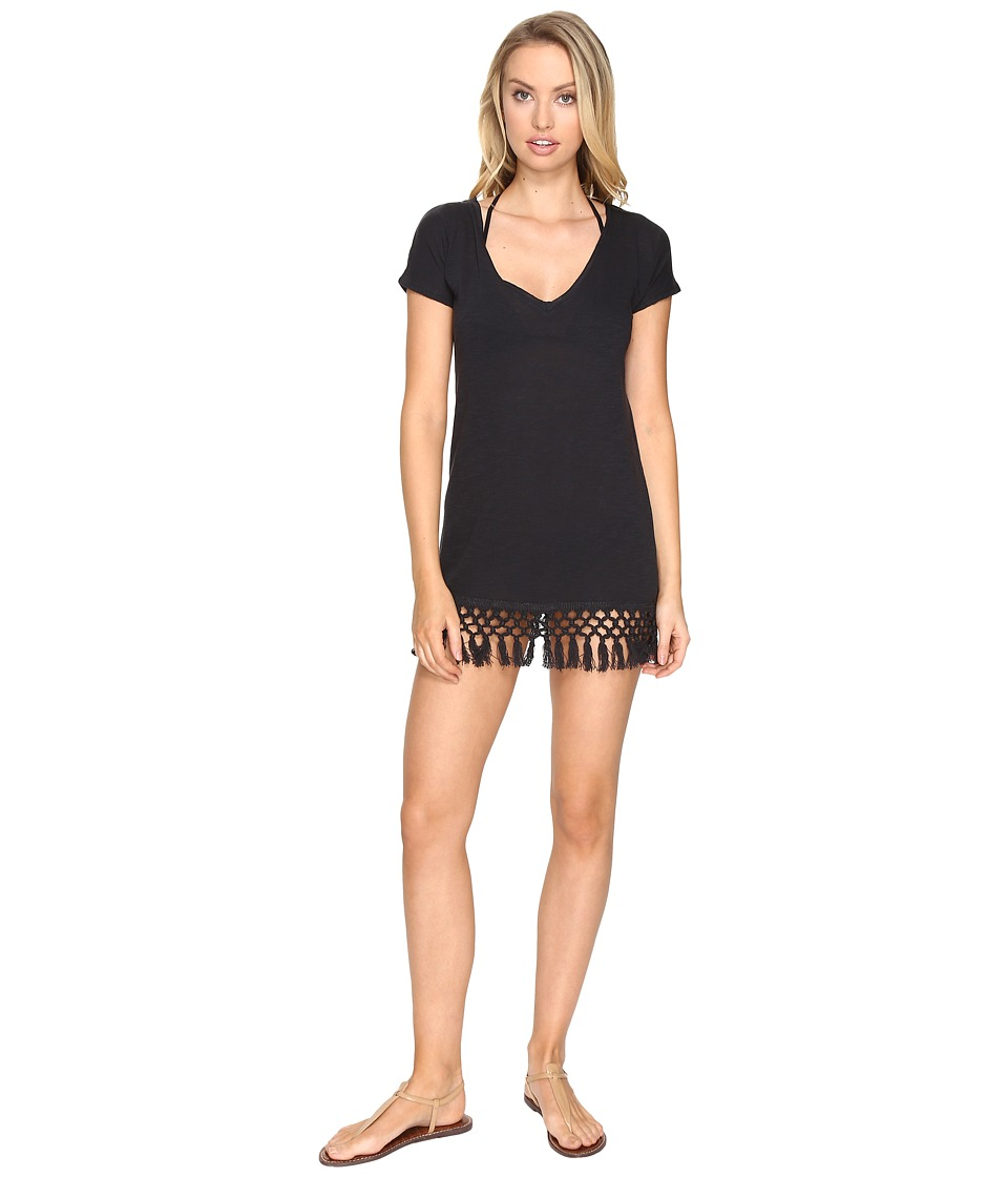 Billabong - Stay Here Slub Tee Cover-Up (Black Sands) Women's Swimwear