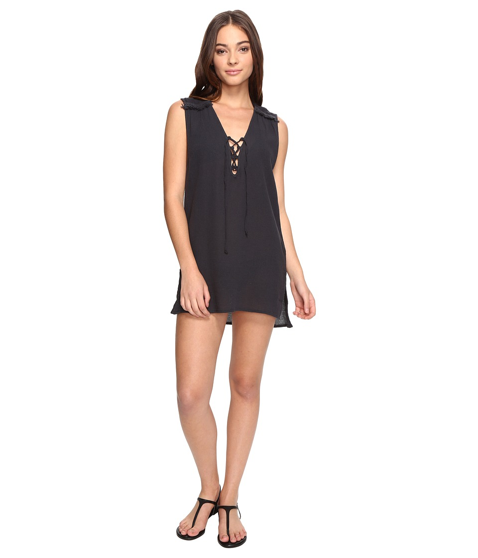 Billabong - For You Dress Cover-Up (Black Sands) Women's Swimwear