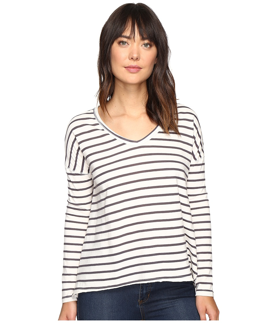 Billabong - Many Ways Long Sleeve Tee (Black/White) Women's T Shirt