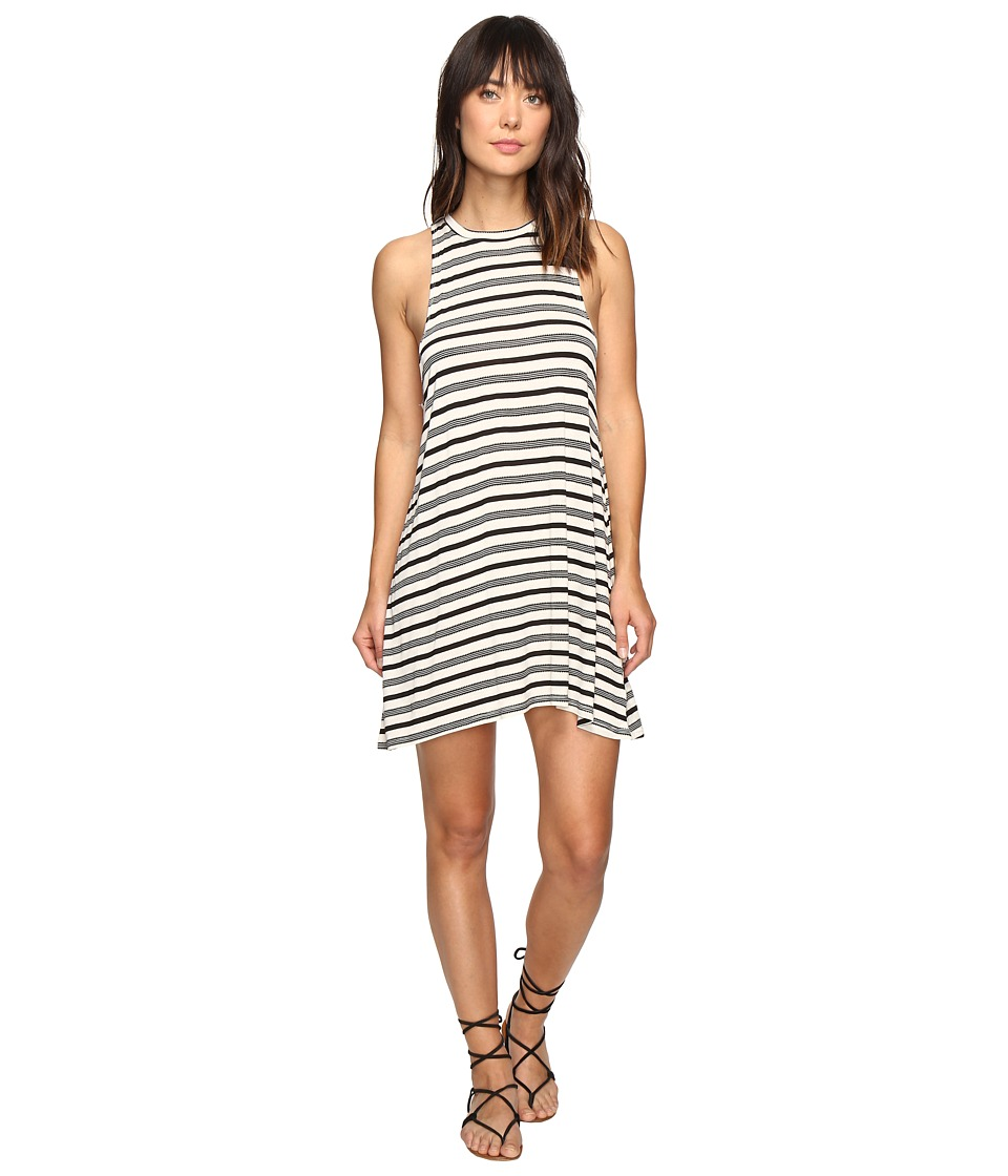 Billabong - By and By Tee Dress (Black/White) Women's Dress