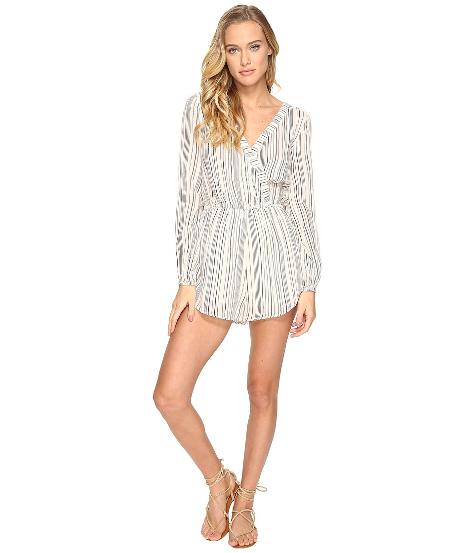 Billabong - Coastal Break Romper (Black/White) Women's Jumpsuit & Rompers One Piece