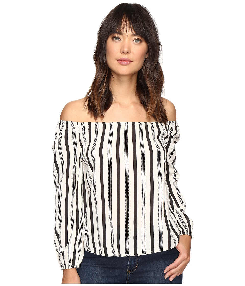 Billabong - Mi Amore Top (Black/White) Women's Blouse