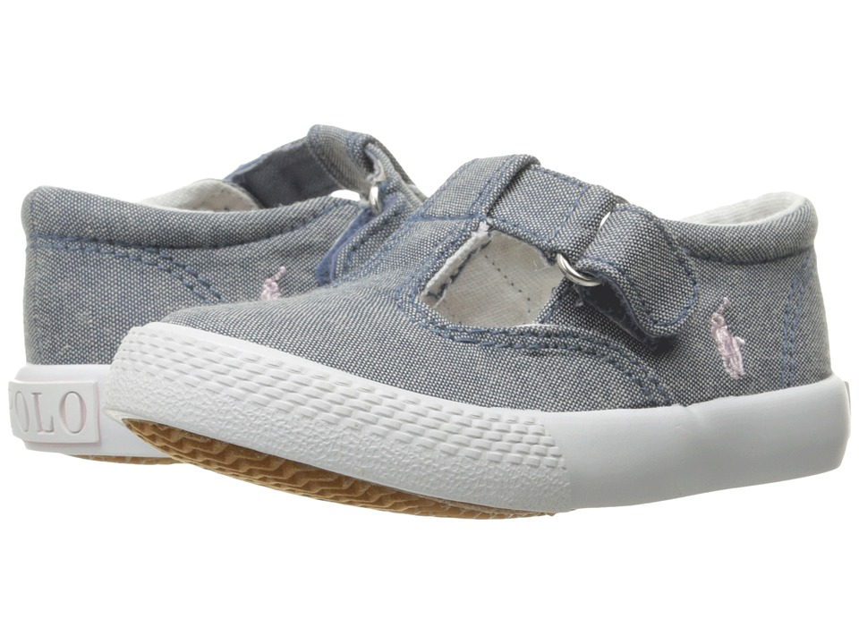 Polo Ralph Lauren Kids - Tabby T-Strap (Toddler) (Light Pink Chambray/White PP 2) Girl's Shoes