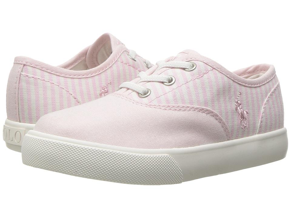 Polo Ralph Lauren Kids - Vali Gore (Toddler) (Light Pink Oxford Cloth/Light Pink Stripe) Girls Shoes