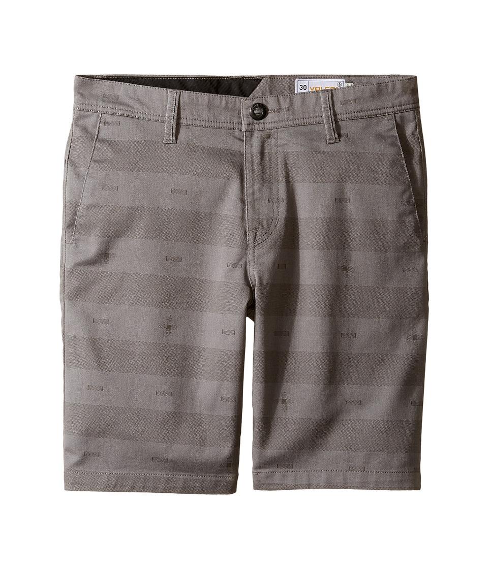 Volcom Kids - Frickin Modern Stretch Print Shorts (Big Kids) (Pewter) Boy's Shorts