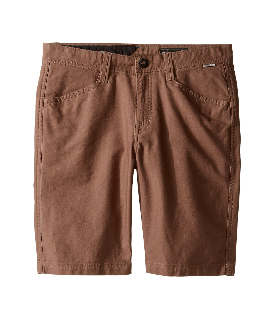 Volcom Kids - VSM Gritter Shorts (Big Kids) (Mushroom) Boy's Shorts