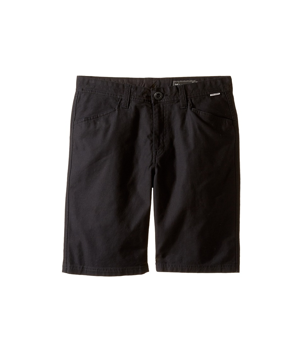 Volcom Kids - VSM Gritter Shorts (Big Kids) (Black) Boy's Shorts
