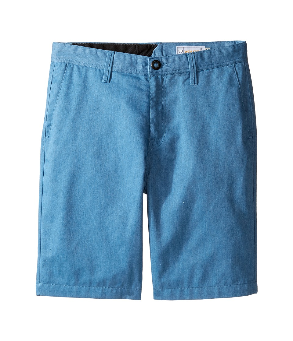 Volcom Kids - Frickin Chino Shorts (Big Kids) (Deep Water) Boy's Shorts