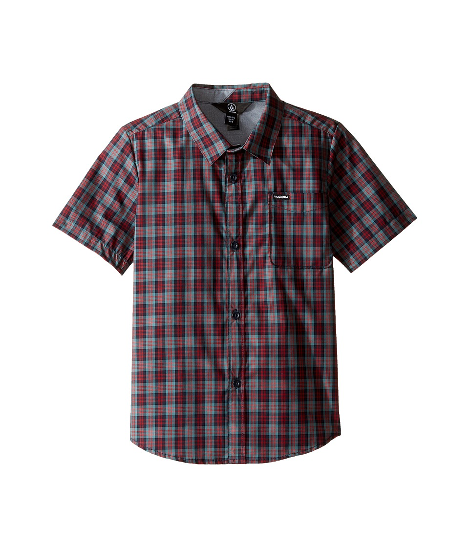 Volcom Kids - Amerson Short Sleeve Woven Top (Toddler/Little Kids) (Sulfur Blue) Boy's Short Sleeve Button Up