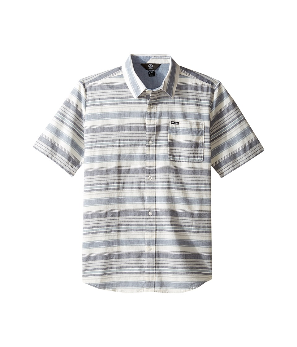 Volcom Kids - Clockwork Short Sleeve Woven Top (Big Kids) (Sandstorm) Boy's Short Sleeve Button Up