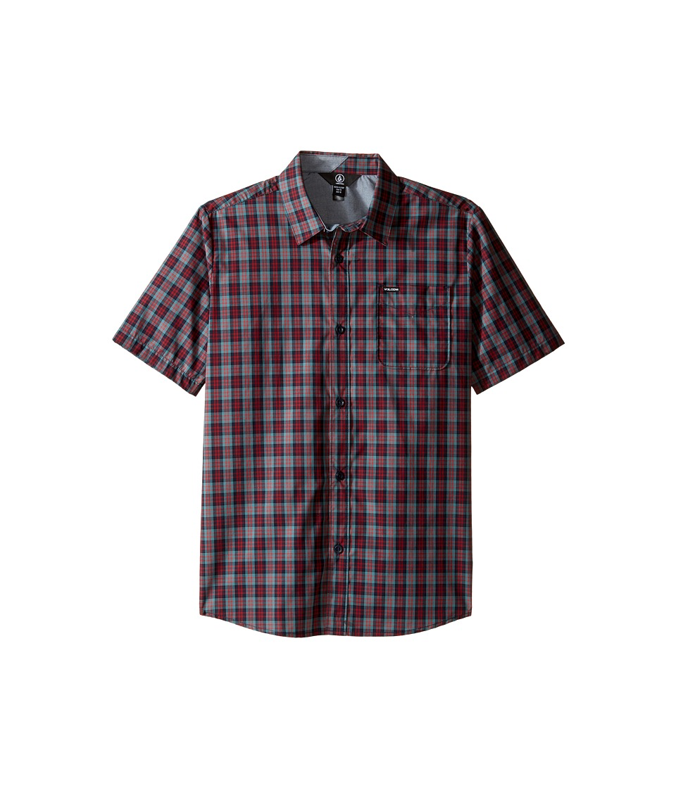 Volcom Kids - Amerson Short Sleeve Woven Top (Big Kids) (Sulfur Blue) Boy's Short Sleeve Button Up