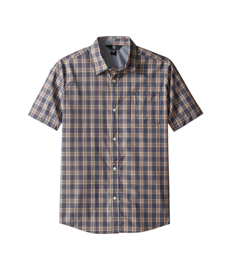 Volcom Kids - Amerson Short Sleeve Woven Top (Big Kids) (Sandstorm) Boy's Short Sleeve Button Up