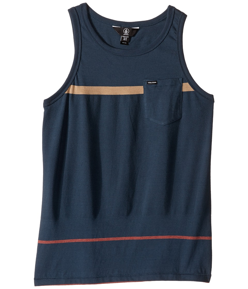 Volcom Kids - Threezy Tank Top (Big Kids) (Airforce Blue) Boy's Sleeveless