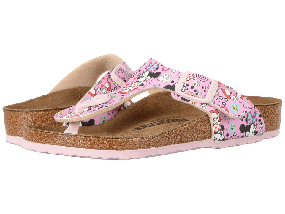 Birkenstock Kids - Gizeh (Little Kid/Big Kid) (Lovely Minnie Rose Birko-Flor) Girls Shoes