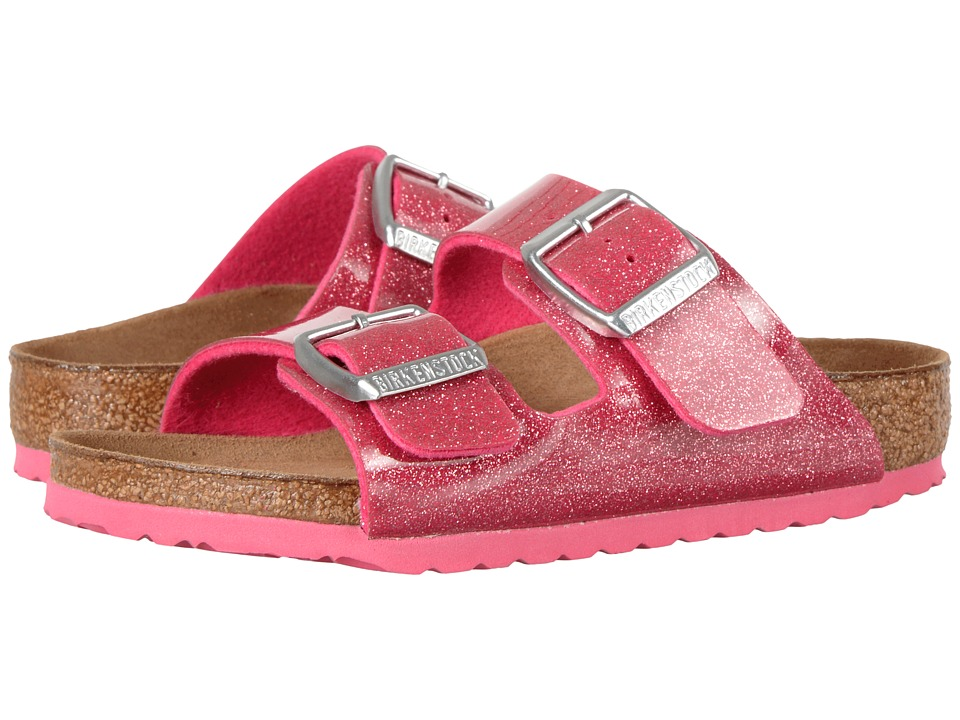 Birkenstock Kids - Arizona (Toddler/Little Kid/Big Kid) (Magic Galaxy Bright Rose Birko-Flor) Girls Shoes