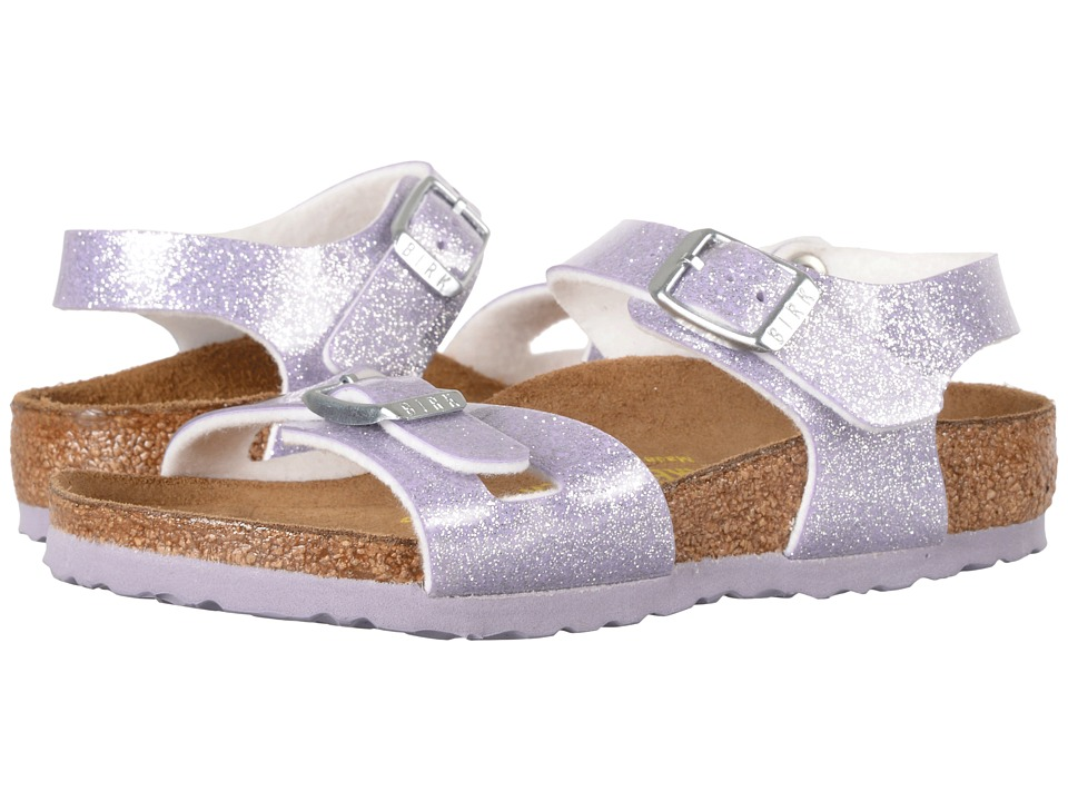 Birkenstock Kids - Rio (Toddler/Little Kid/Big Kid) (Magic Galaxy Lavender Birko-Flor) Girls Shoes