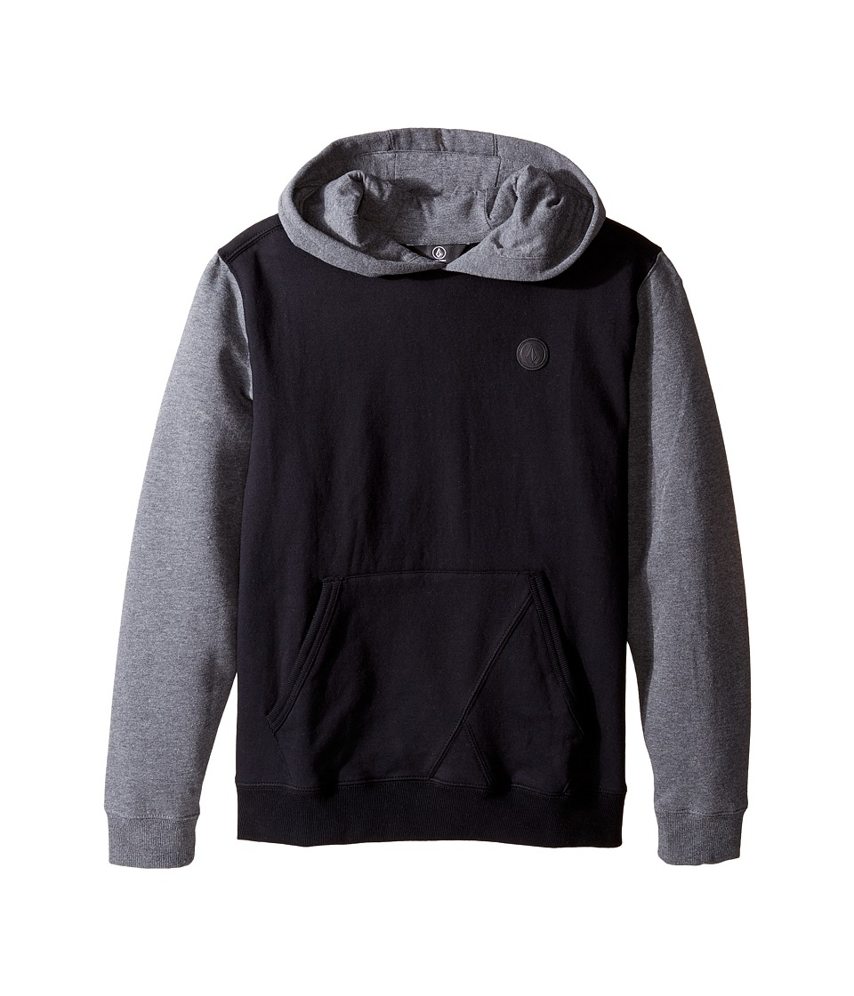 Volcom Kids - Single Stone Color Block Hoodie (Big Kids) (Black) Boy's Sweatshirt