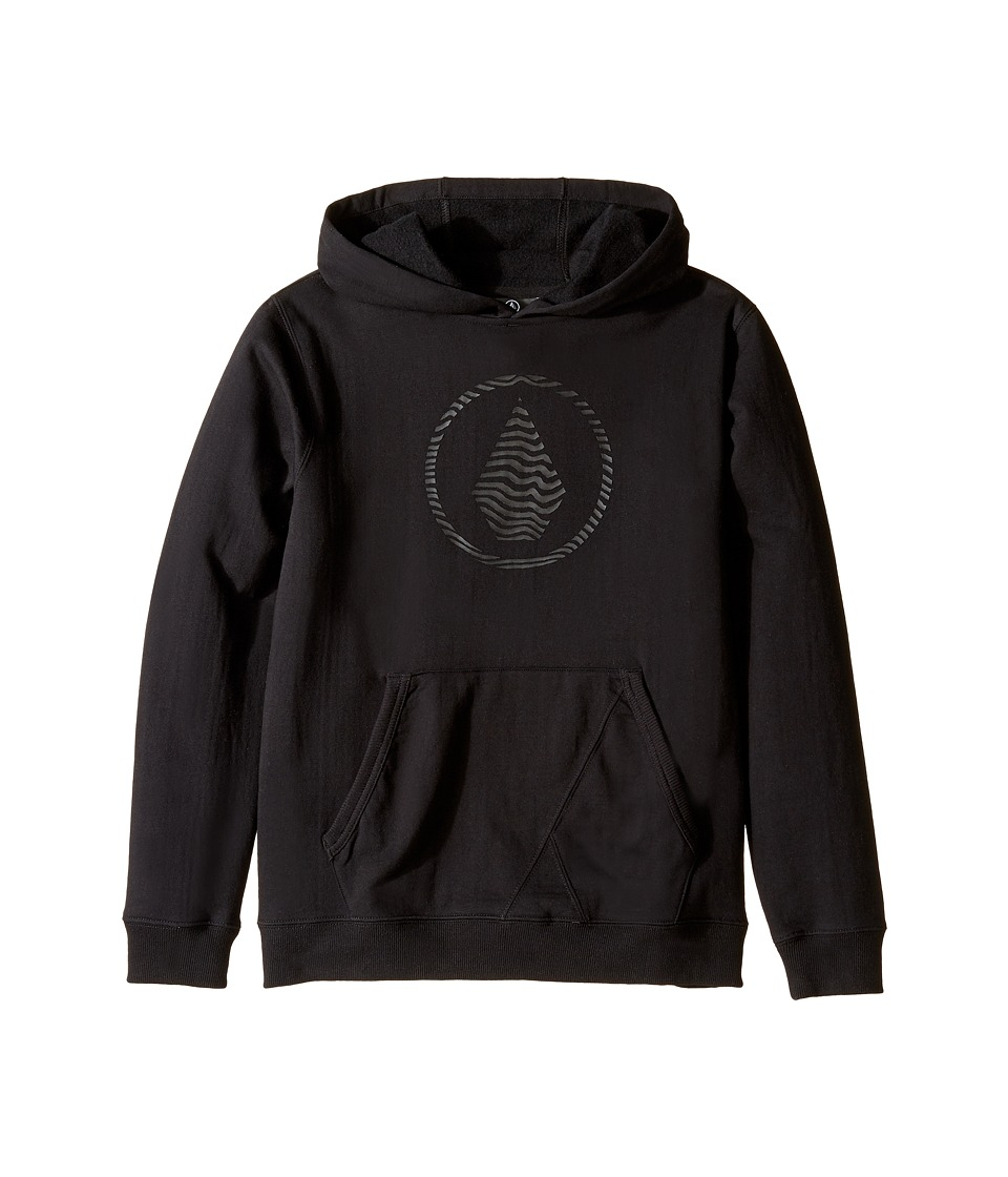 Volcom Kids - Stone Hooded Pullover (Big Kids) (New Black) Boy's Sweatshirt