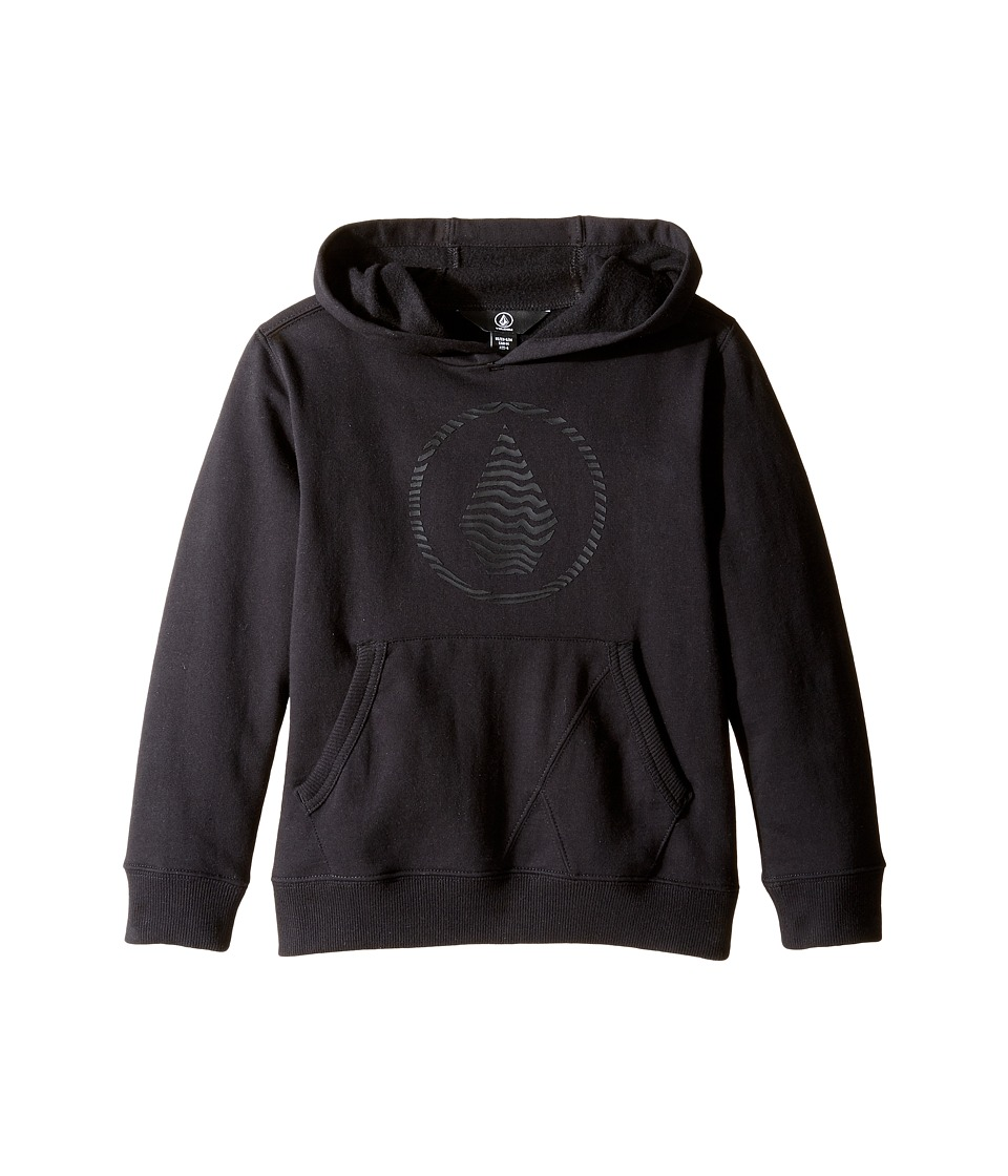 Volcom Kids - Stone Hooded Pullover (Toddler/Little Kids) (New Black) Boy's Sweatshirt