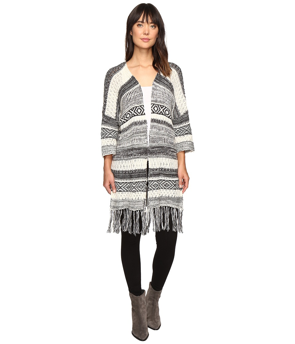 Billabong - Valley Trek Cardigan (Black/White) Women's Sweater