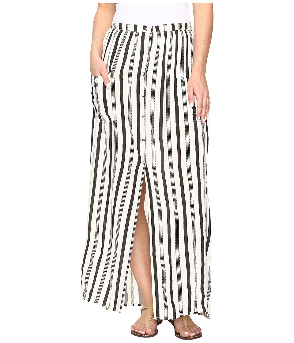 Billabong - Honey Maxi Skirt (Black/White) Women's Skirt
