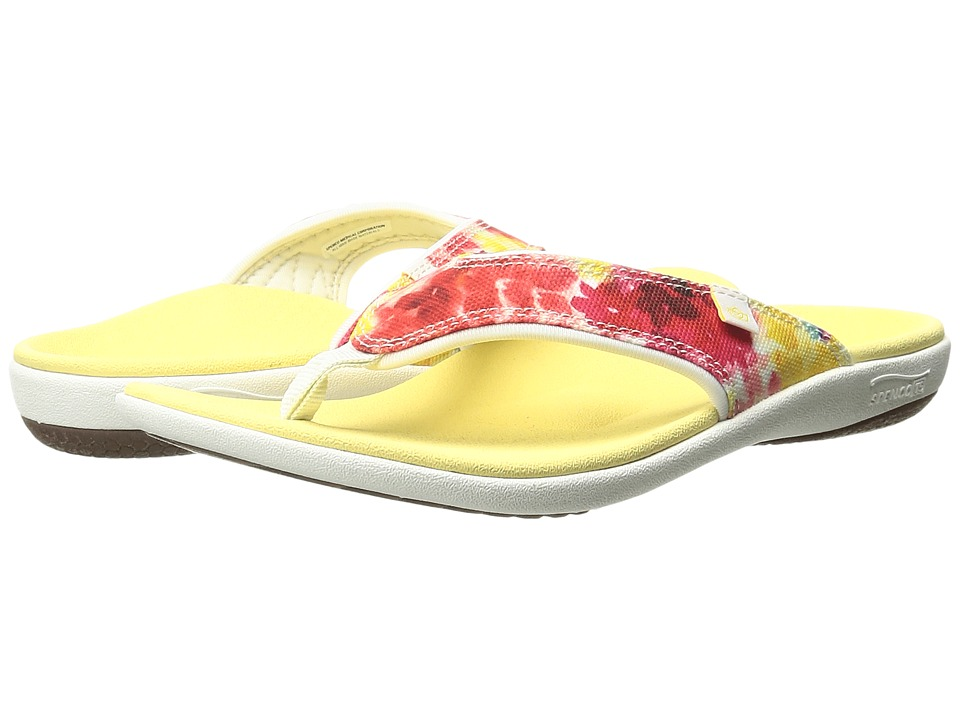 Spenco - Yumi English Bouquet (Yellow) Women's Sandals