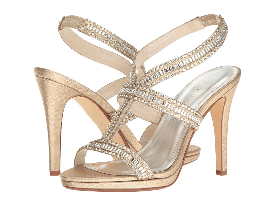 Caparros - Givenchy (Gold Metallic Fabric) High Heels