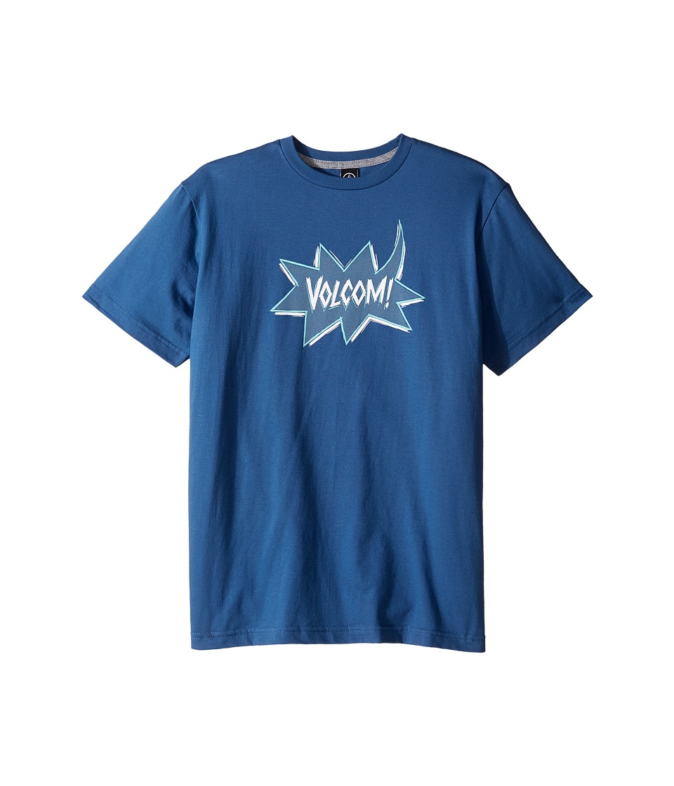 Volcom Kids - Screech Short Sleeve Tee (Big Kids) (Smokey Blue) Boy's T Shirt