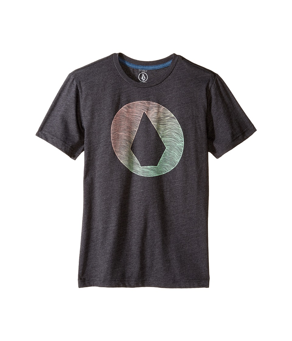 Volcom Kids - Inprint Short Sleeve Tee (Big Kids) (Heather Black) Boy's T Shirt