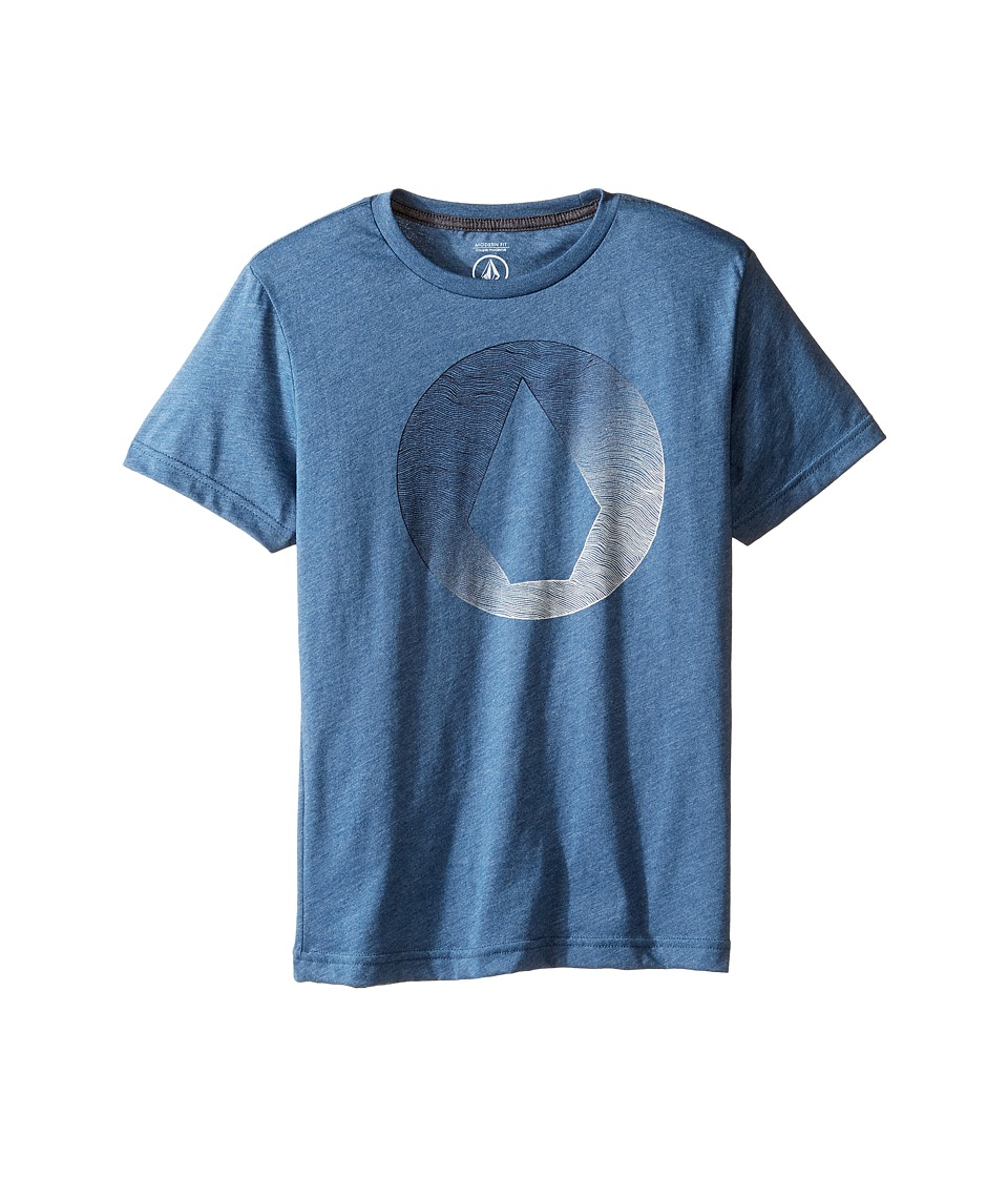 Volcom Kids - Inprint Short Sleeve Tee (Big Kids) (Smokey Blue) Boy's T Shirt