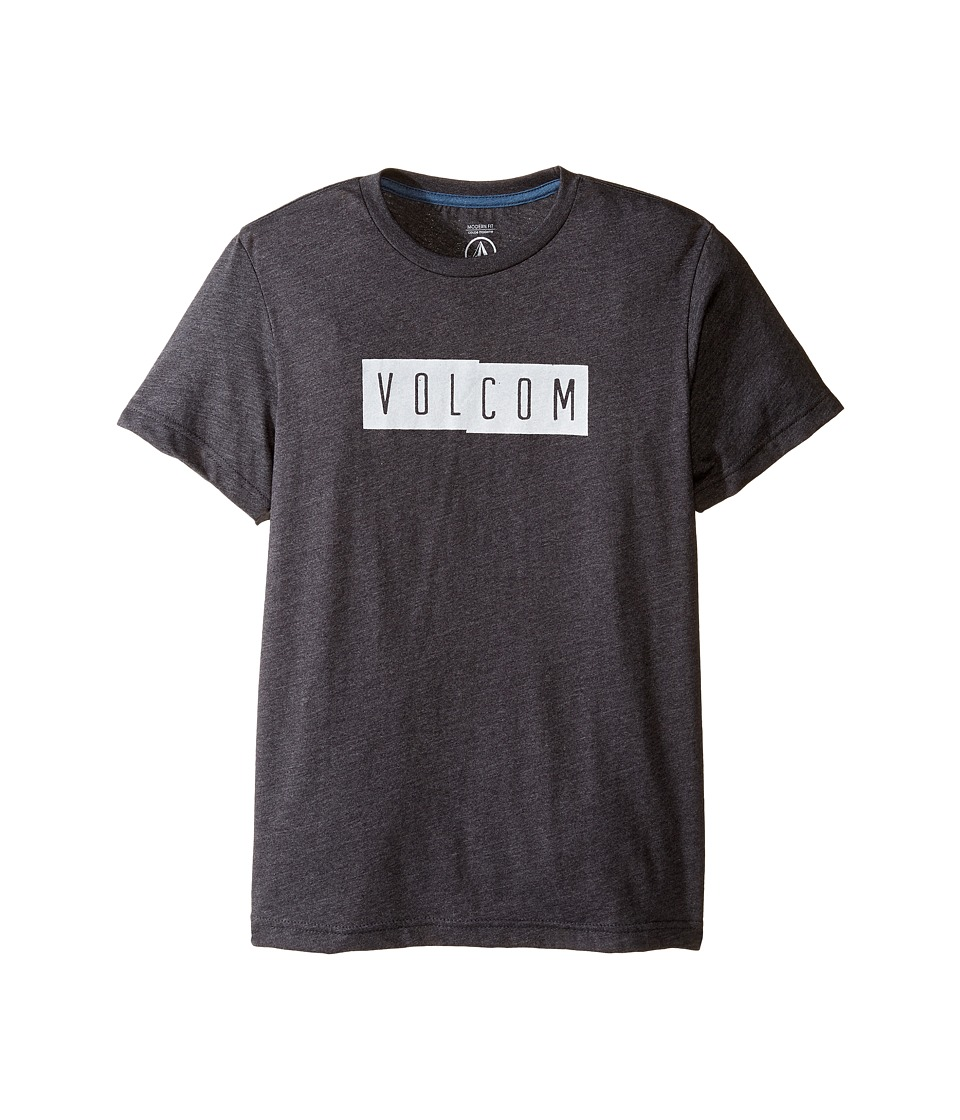Volcom Kids - Shifty Short Sleeve Tee (Big Kids) (Heather Black) Boy's T Shirt