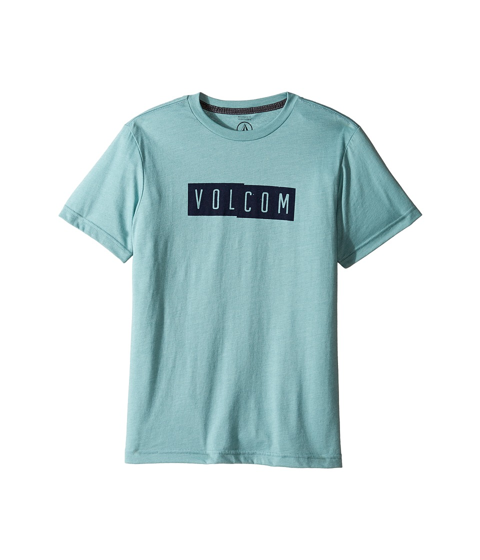 Volcom Kids - Shifty Short Sleeve Tee (Big Kids) (Sea Blue Heather) Boy's T Shirt
