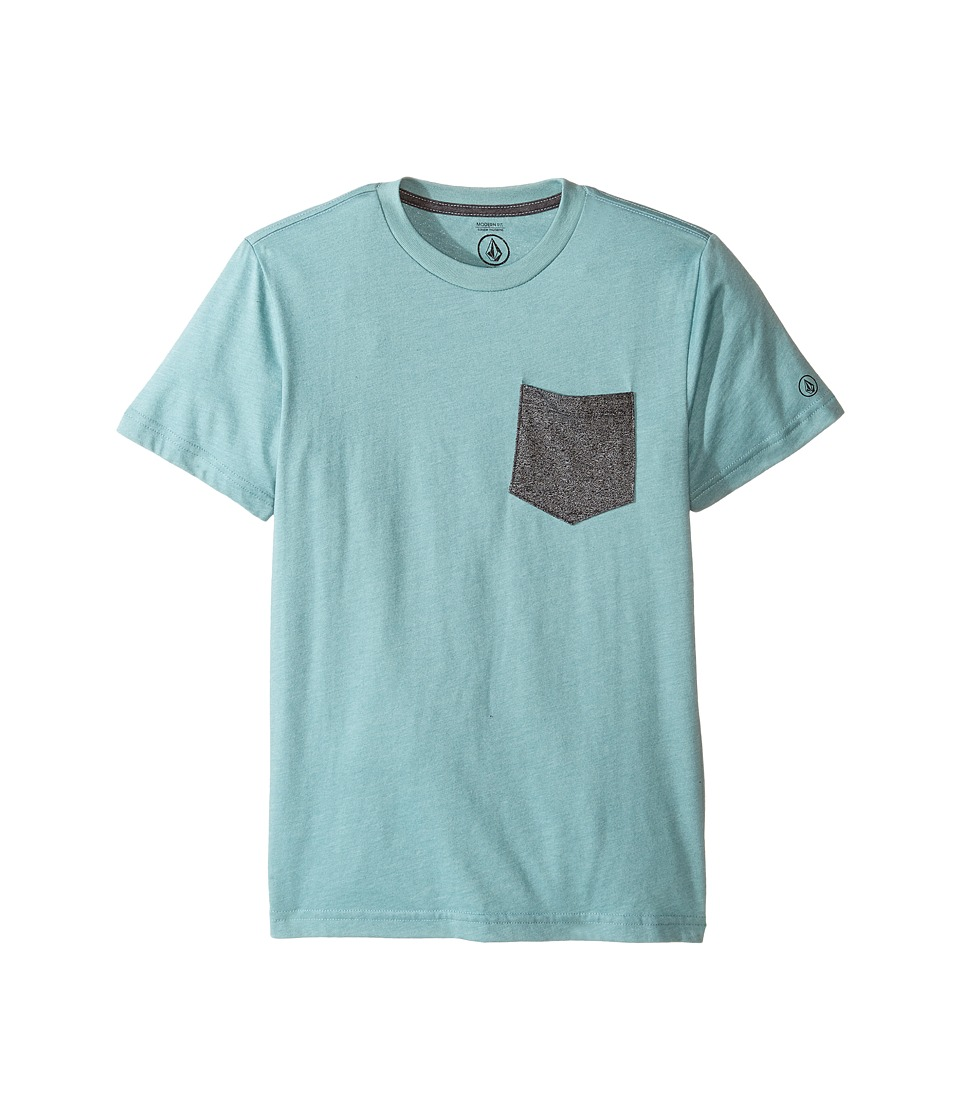 Volcom Kids - Twist Pocket Short Sleeve Tee (Big Kids) (Sea Blue Heather) Boy's T Shirt