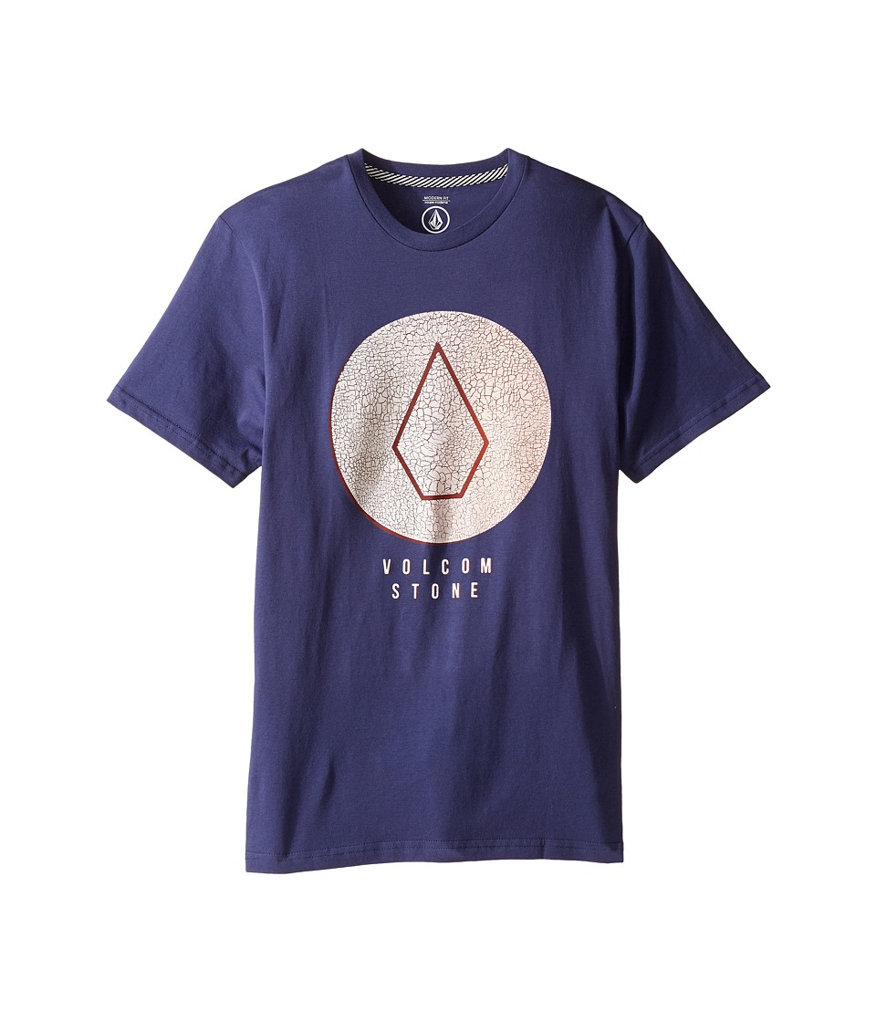 Volcom Kids - Cracked Short Sleeve Tee (Big Kids) (Blue Plum) Boy's T Shirt